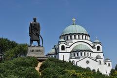 Iglesia del santo Sava, Belgrado, Serbia Imagen de archivo