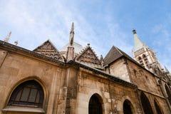 Iglesia del santo-Severin en París Imagenes de archivo