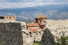 Iglesia del santo Sophia Byzantine Mystras imagenes de archivo