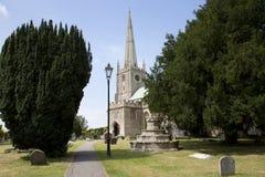 Iglesia del siglo XIII de Somerset Foto de archivo libre de regalías
