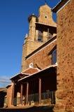 Iglesia del siglo XVI de San Juan Bautista Dating In The en Castrillo De Los Polvazares Arquitectura, historia, Camino De Santiag foto de archivo libre de regalías