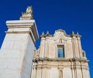 Iglesia del St. Agustín. Matera. Basilicata. imagenes de archivo