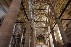 Iglesia del St. Anastasia en Verona foto de archivo