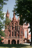 Iglesia del St Anne s en Vilnius Fotos de archivo libres de regalías