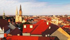 Iglesia del St Catherines, Zagreb, Croacia imagen de archivo libre de regalías