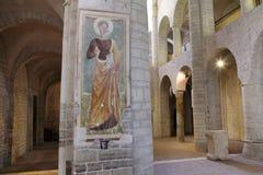 Iglesia del St. Eufemia. Spoleto. Umbría - Italia Imagen de archivo libre de regalías