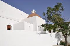 Iglesia del St Eulalia en Ibiza Foto de archivo