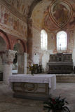 Iglesia del St Genest - Lavardin - Francia Foto de archivo