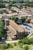 Iglesia del St Gimer en Carcasona Fotografía de archivo