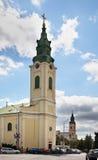Iglesia del St Ladislao en Oradea rumania fotografía de archivo libre de regalías