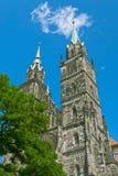 Iglesia del St. Lorenzo en Nuremberg Foto de archivo