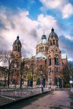 Iglesia del St Lukes en Munich fotografía de archivo libre de regalías
