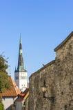 Iglesia del St Olaf en Tallinn, Estonia Imagen de archivo