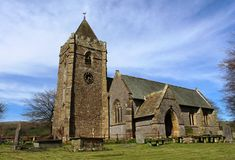 Iglesia del St Oswald Thornton-en-Lonsdale, Yorkshire Imagen de archivo