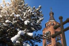Iglesia del tiempo del invierno Fotos de archivo libres de regalías