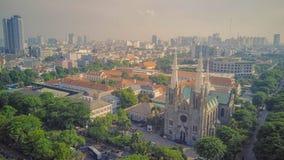 Iglesia del top, Jakarta de la catedral indonesia fotos de archivo libres de regalías