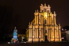 Iglesia del Visitation en Varsovia Imagen de archivo libre de regalías