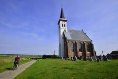 Iglesia Den Horn, Texel Fotos de archivo libres de regalías