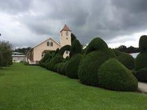 Iglesia después de la tormenta imágenes de archivo libres de regalías