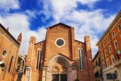 Iglesia dominicana de Sant'Anastasia en Verona fotografía de archivo libre de regalías