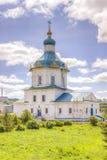 Iglesia Dormition de Rusia Cheboksari la mayoría del Theotokos santo Imagen de archivo