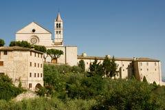 Iglesia en Assisi fotografía de archivo