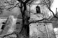Iglesia en blanco y negro Fotos de archivo libres de regalías