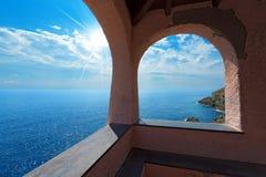 Iglesia en Bonassola - Liguria - Italia foto de archivo