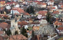 Iglesia en Brasov, Rumania de Nicholas del santo Fotos de archivo