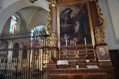 Iglesia en bulle en gruyere en Suiza del sur Imagen de archivo