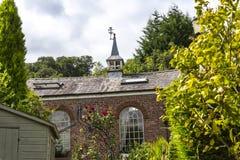 Iglesia en Cheshire Countryside cerca del borde de Alderley Imagen de archivo libre de regalías