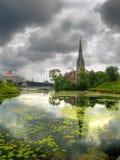 Iglesia en Copenhague, Dinamarca Fotos de archivo