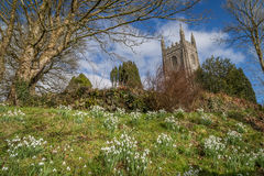 Iglesia en Cornualles fotografía de archivo libre de regalías