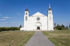 Iglesia en Dawidy Bankowe Foto de archivo