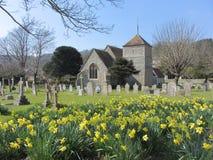 Iglesia en decano del este, Sussex del este, Inglaterra, Reino Unido fotos de archivo