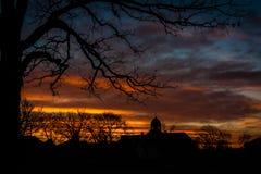 Iglesia en distancia Imagen de archivo libre de regalías