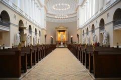 Iglesia en donde el Príncipe heredero Frederik y Maria conseguidos se casó imagenes de archivo