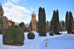 Iglesia en el curtea de Arges Fotos de archivo libres de regalías