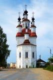 Iglesia en el estilo barroco ruso en Totma Imagen de archivo libre de regalías