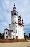 Iglesia en el estilo barroco ruso en Totma Imágenes de archivo libres de regalías