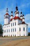 Iglesia en el estilo barroco ruso en Totma Foto de archivo