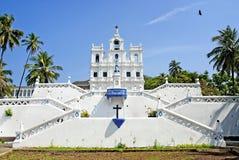 Iglesia en el goa la India de panaji Foto de archivo libre de regalías