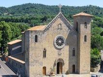 Iglesia en el lago Italia Bolsena Foto de archivo