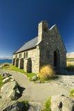 Iglesia en el lago Tekapo, Nueva Zelanda Imagen de archivo libre de regalías