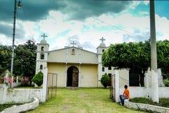 Iglesia en el maquina del La, Guatemala Imagen de archivo
