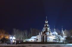 Iglesia en el museo de Suzdal de la arquitectura de madera Fotos de archivo libres de regalías