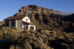 Iglesia en el parque nacional de Teide Imagenes de archivo