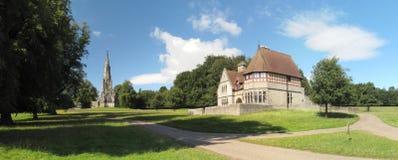 Iglesia en el parque real de Studley Fotos de archivo libres de regalías