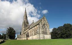 Iglesia en el parque real de Studley Fotos de archivo