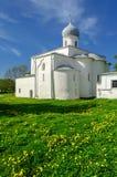 Iglesia en el patio comercial, Veliky Novgorod de la suposición Fotos de archivo